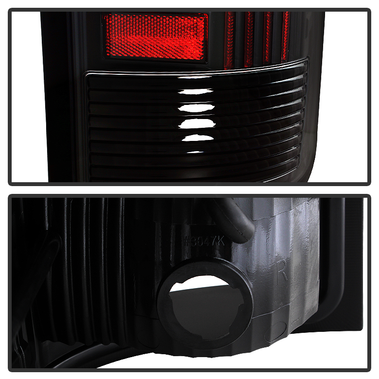 Black 2007-2013 GMC Sierra 1500 2500HD 3500HD LED Tube
