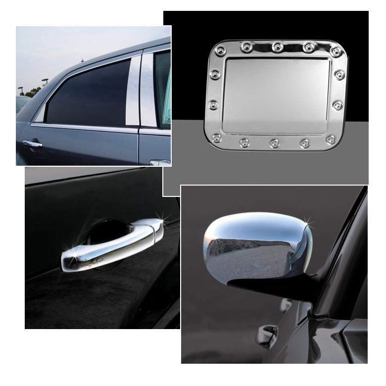 Chrome Grille Door Handle Mirror Covers Pillar Gas Tank