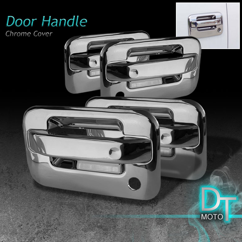04 12 FORD F150 4DR CHROME DOOR HANDLE COVERS WITH PASSENGER KEYHOLE