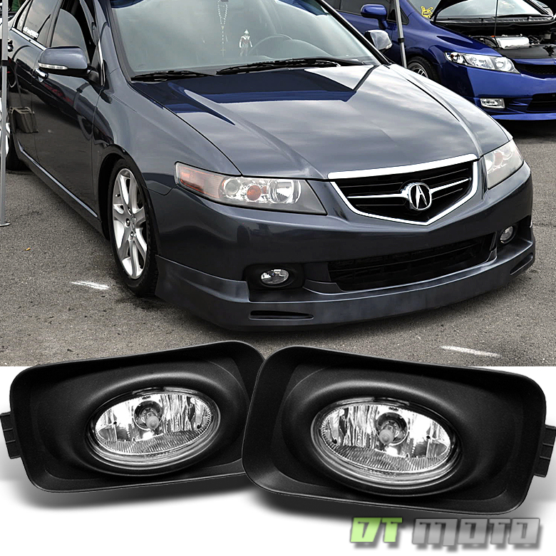 2004-2005 Acura TSX Bumper Fog Lights Lamps+Switch+Wiring