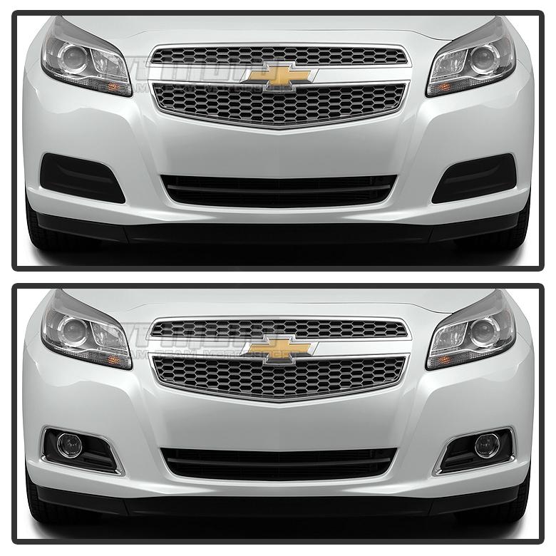 Fits 2013-2015 Chevy Malibu Fog Lights Driving Bumper