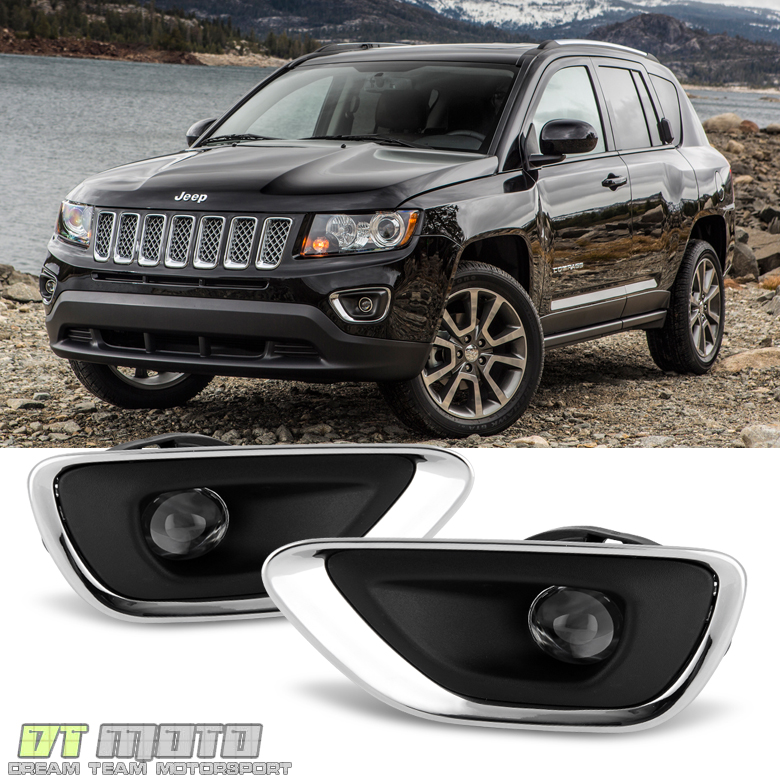 2011 2012 2013 Jeep Grand Cherokee Fog Lights Bumper Lamps w/Switch ...