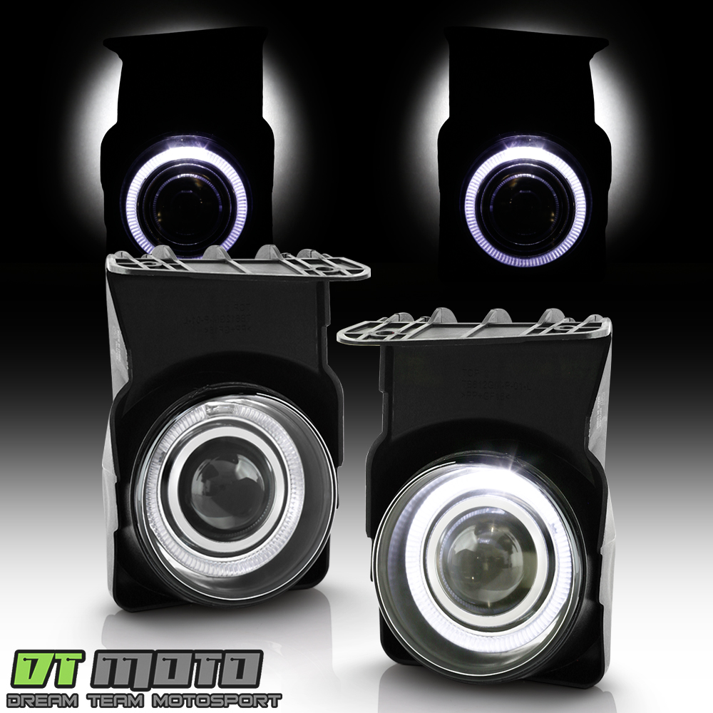 Smoked 03-06 GMC Sierra Halo Projector Fog Lights Lamps Left+Right 2003-2006 set
