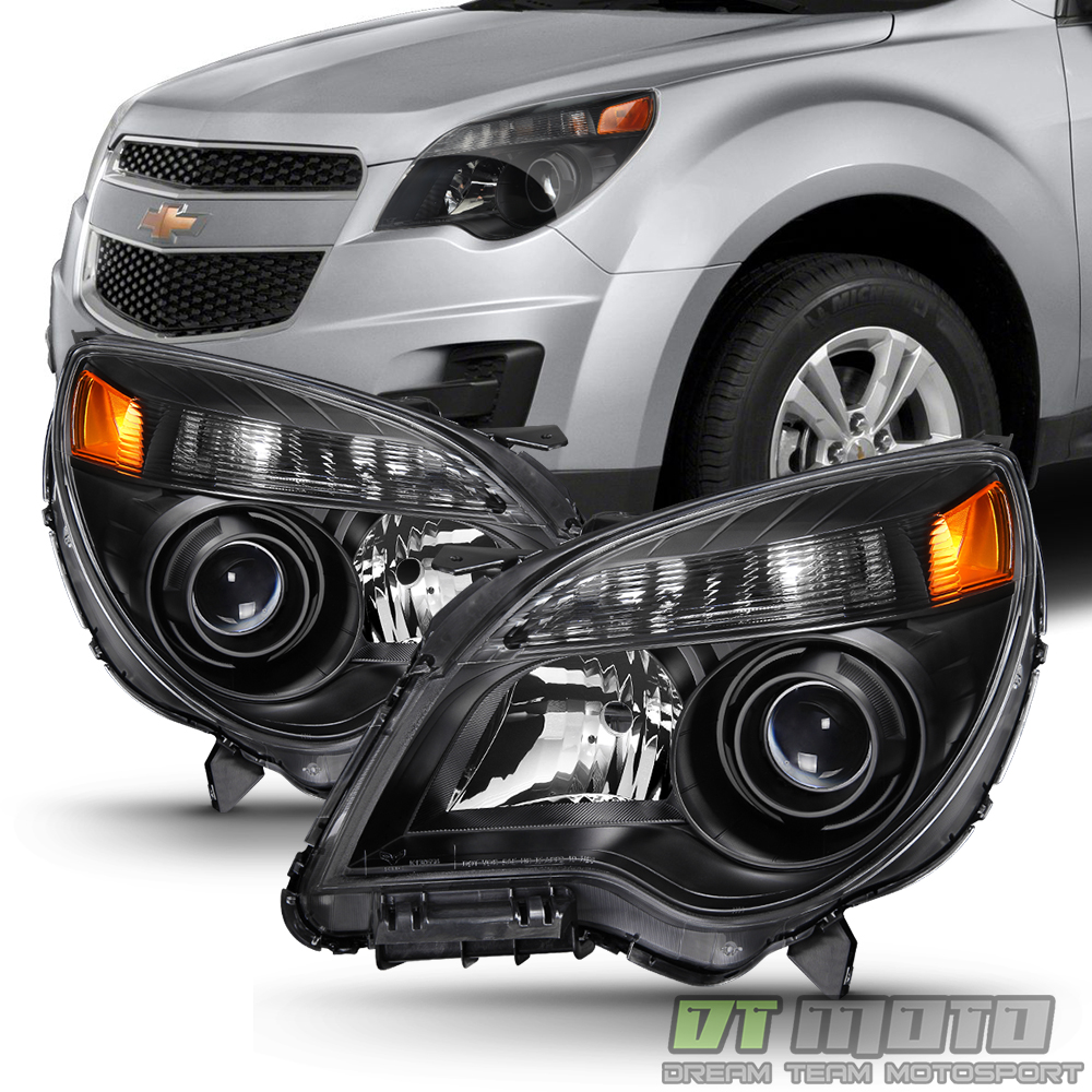 Chevy Models 2015 >> Details About Black 2010 2015 Chevy Equinox Halogen Model Projector Headlights Headlamps 10 15