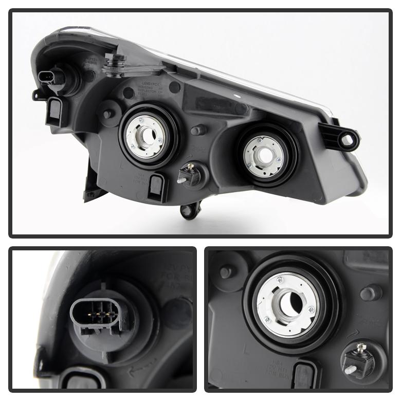 blk 2007 2010 chrysler sebring replacement headlights. Black Bedroom Furniture Sets. Home Design Ideas