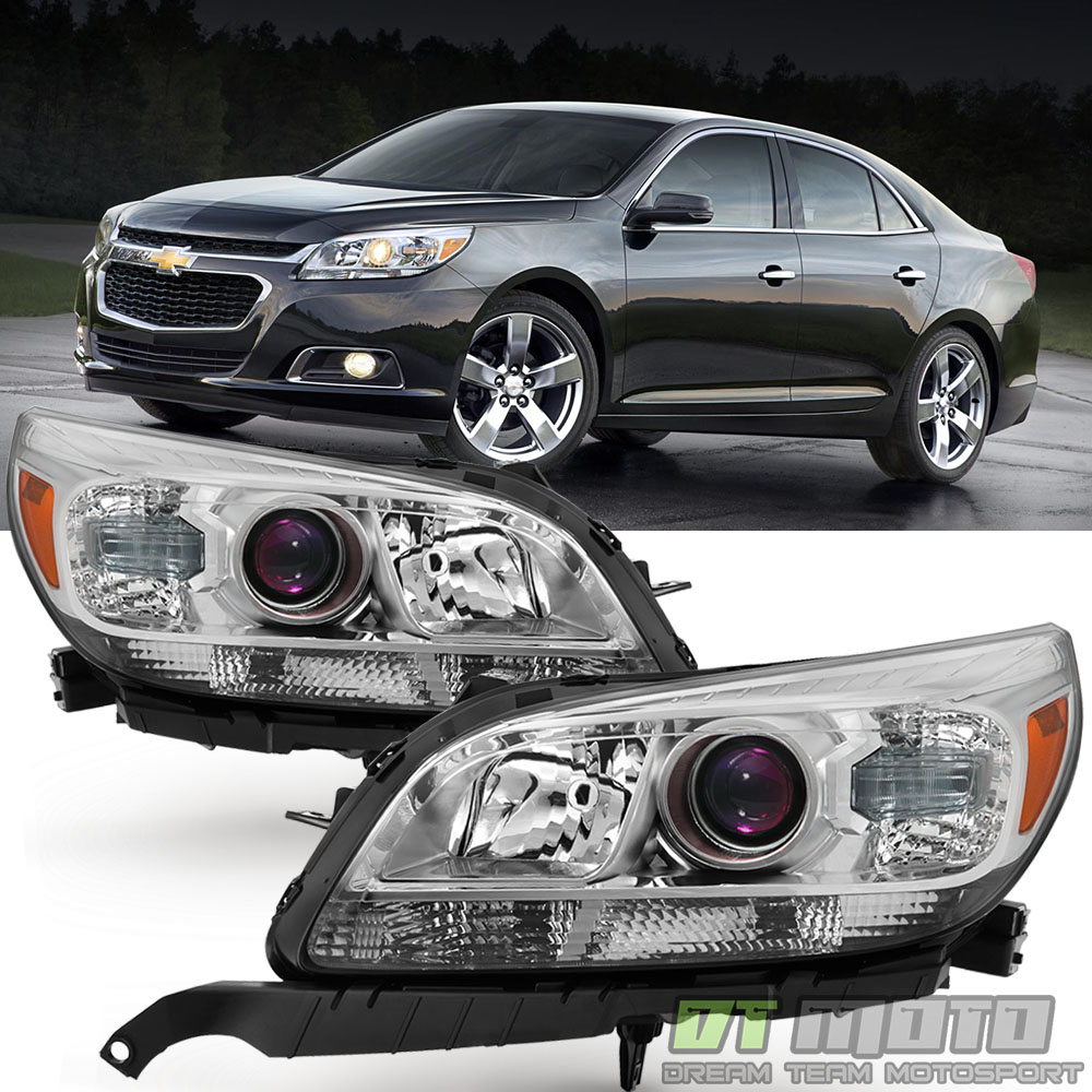 left right 2013 2015 chevrolet malibu lt ltz replacement projector headlights. Black Bedroom Furniture Sets. Home Design Ideas
