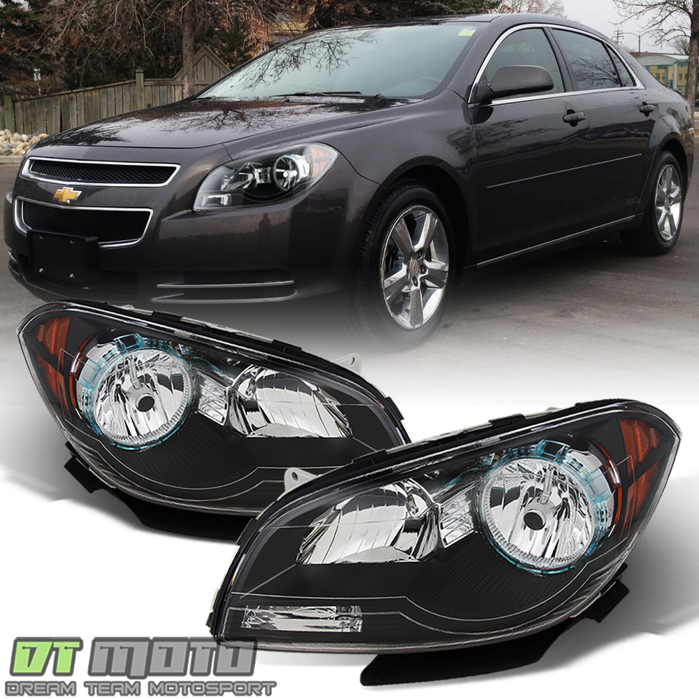For 2008 2009 2011 2012 Chevy Malibu Driver /& Passenger Both Side Headlights Headlamps Assembly