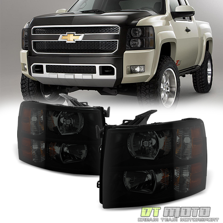 Black Smoke 2007-2013 Chevy Silverado 1500 2500 3500