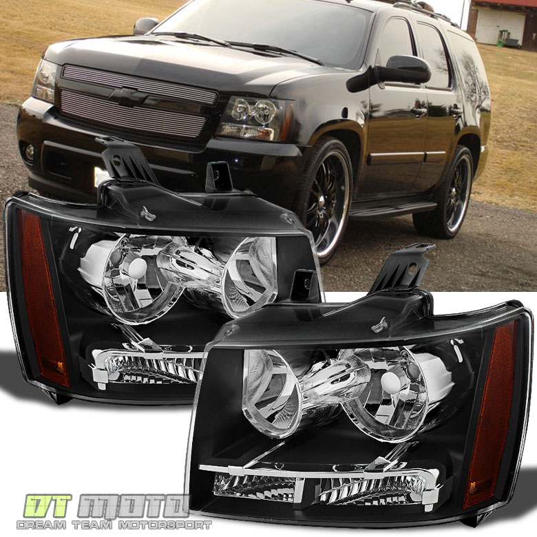 2013 Chevrolet Tahoe Ltz For Sale: Black 2007-2014 Chevy Suburban Tahoe Avalanche Headlights