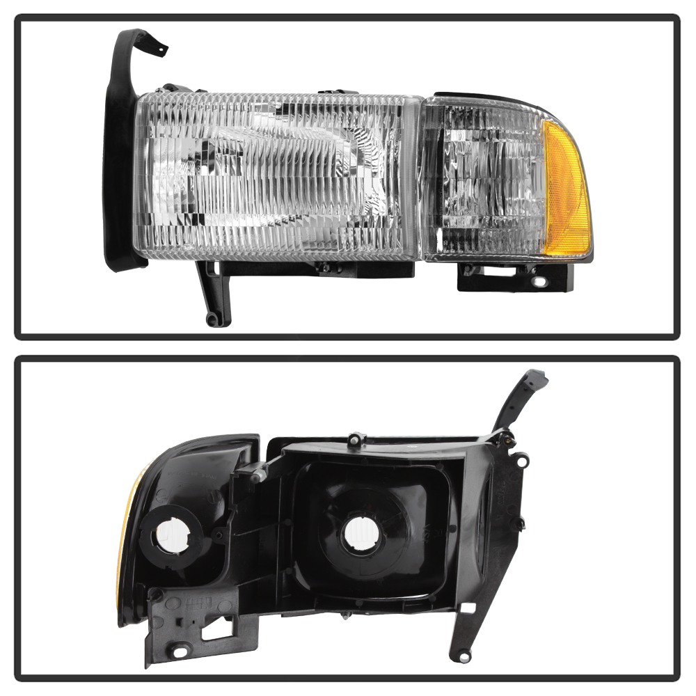 1994-2001 Dodge Ram 1500 94-02 2500 3500 Headlight