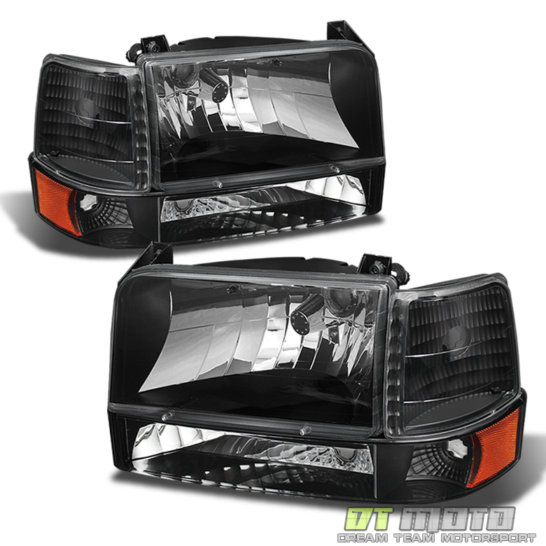 1992-1996 Ford Bronco F150 F250 F350 Headlights+Bumper