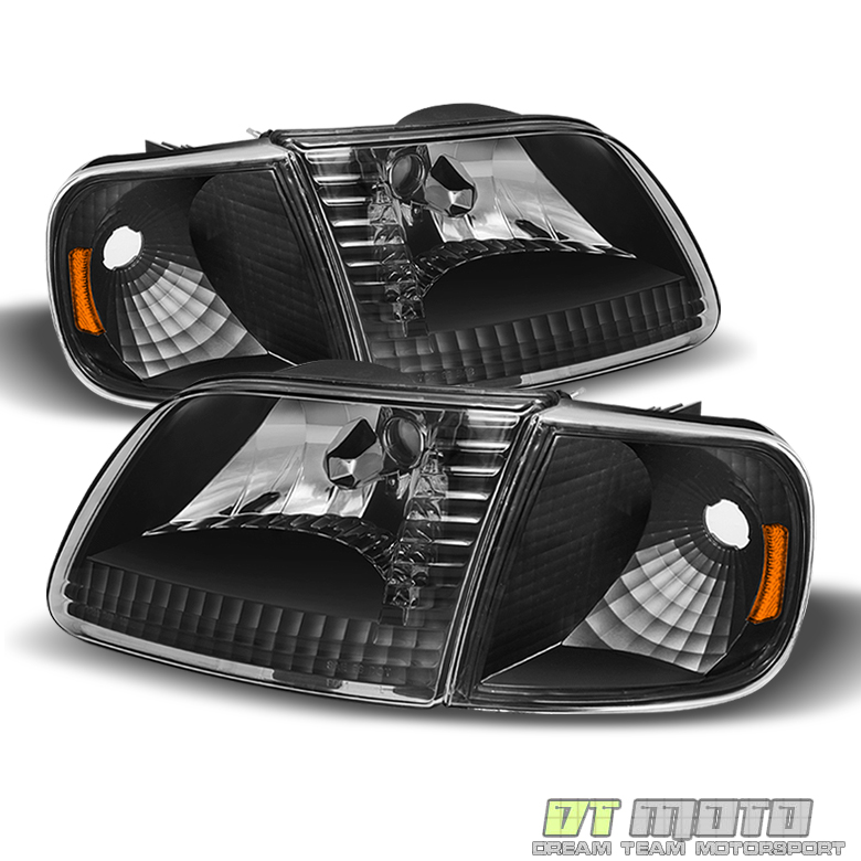 1997-2003 Ford F150// Expedition//Lightning Style New 4Pc Set Headlights Headlamps