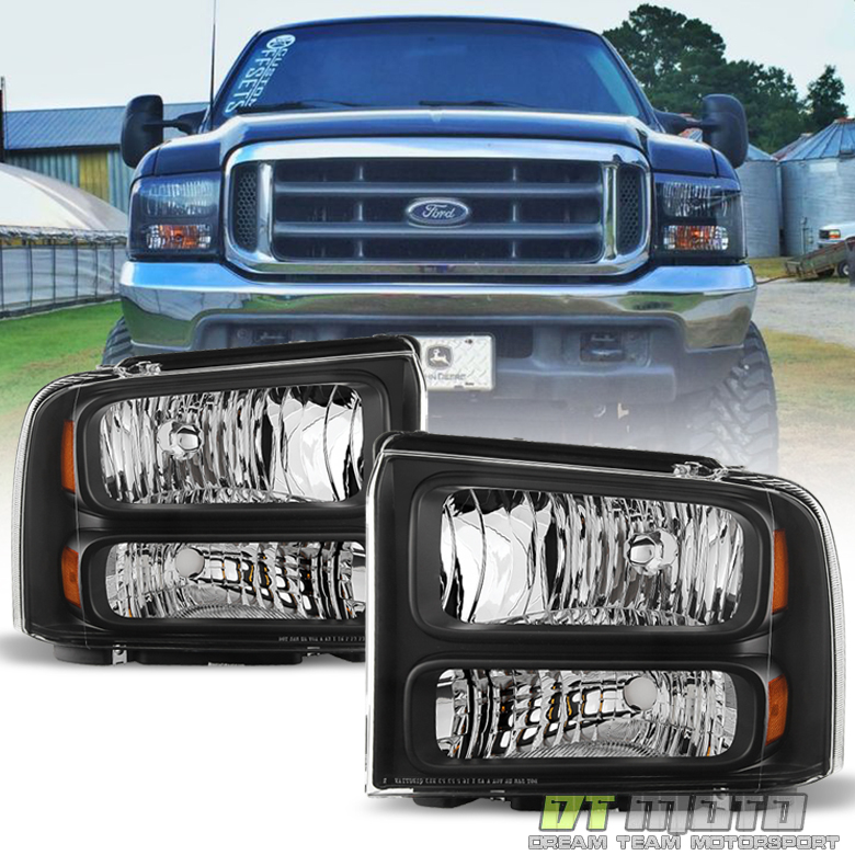 99 F350 Headlights >> Details About 1999 2004 Ford F 250 F 350 Super Duty Excursion Conversion Harley Headlights Set