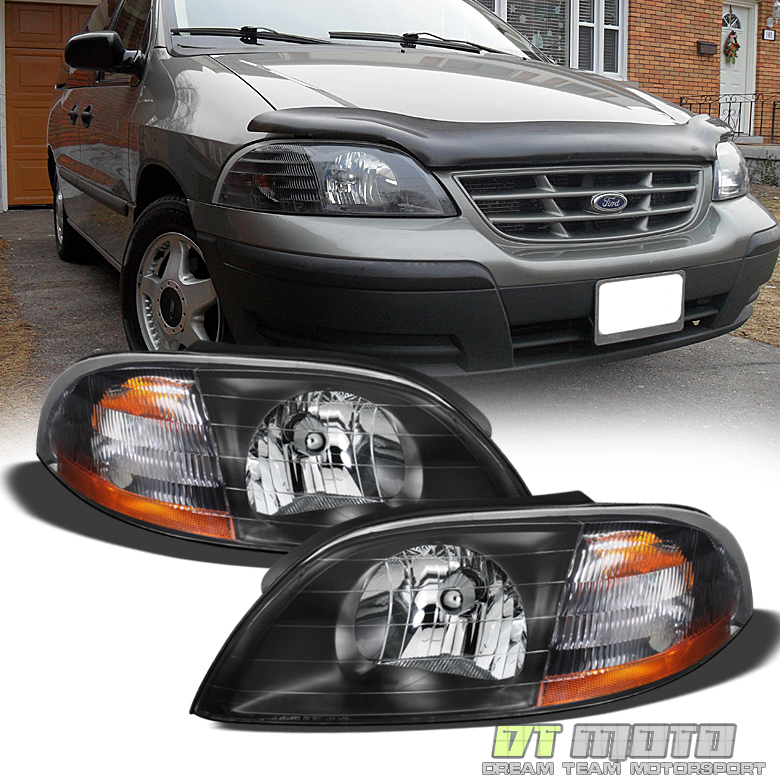 black 1999 2003 ford windstar replacement headlights headlamps pair ford aspire headlight wiring ford windstar headlight wiring #42