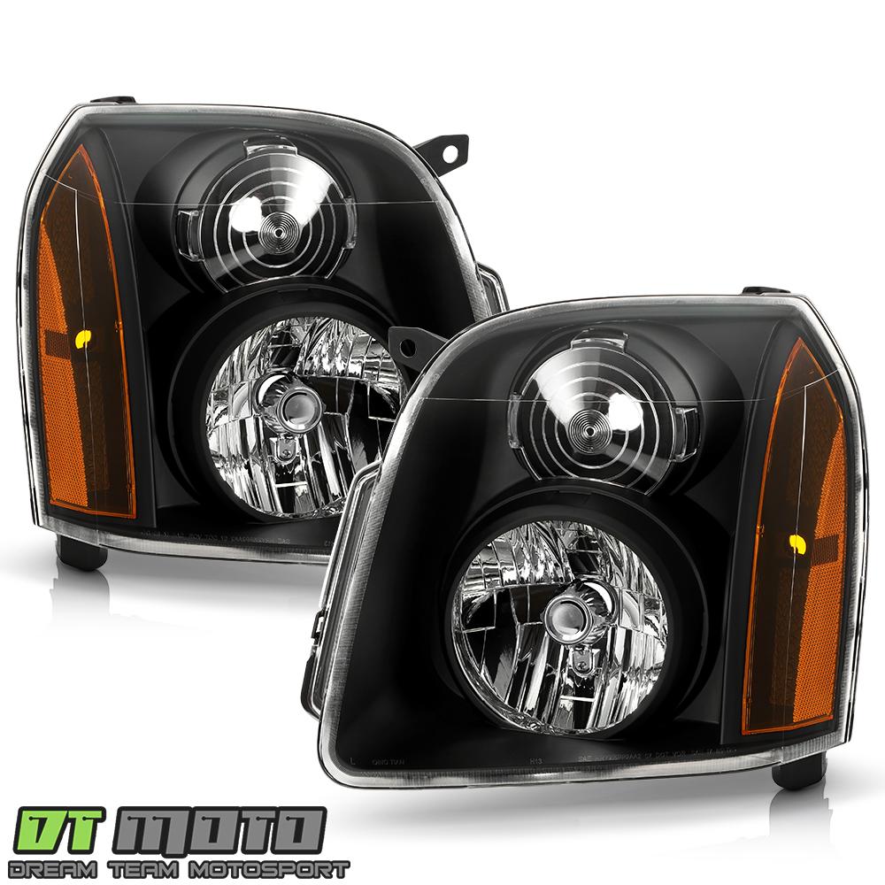 Gmc 2500 Yukon Xl: Black 2007-2014 GMC Yukon XL 1500 2500 Denali Headlights