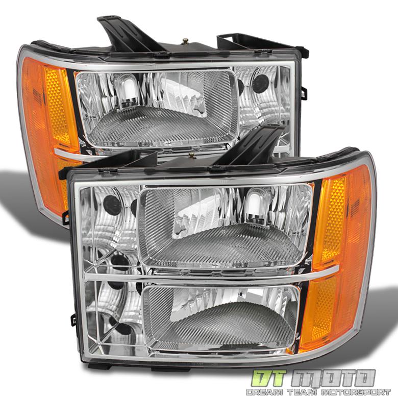 2007-2014 GMC Sierra 1500 2500 3500 Headlights Lamps Left