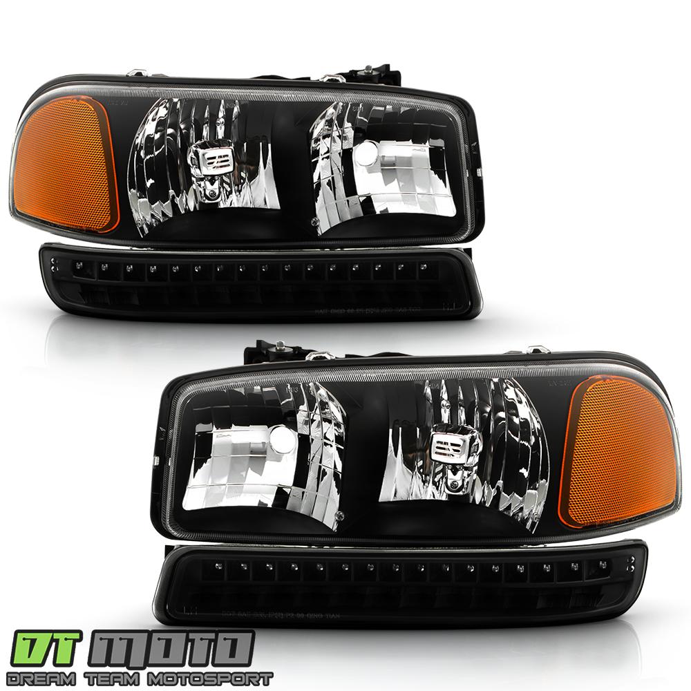2000 gmc sierra headlight wiring 2000 gmc sierra speaker wiring diagram black 1999-2006 gmc sierra yukon xl headlights led parking ...