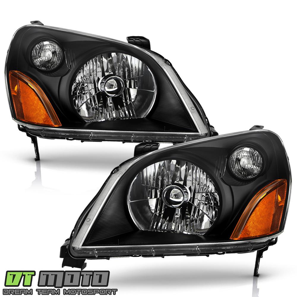 Adapté Honda 03-05 Pilote Chrome Boîtier de Rechange Phare Éclairages Paire Set
