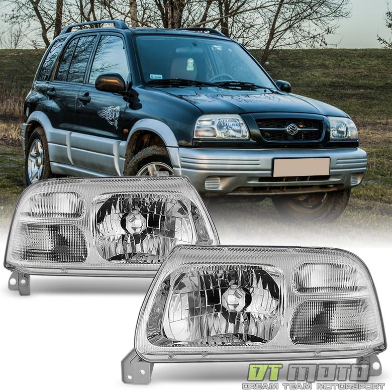 Details About 1999 2003 Suzuki Grand Vitara XL 7 Replacement Headlights Headlamps Left Right