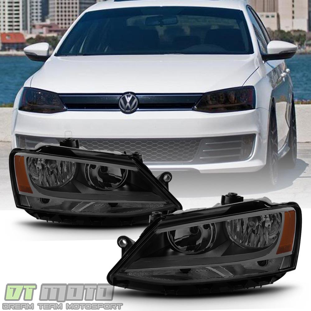 smoke   volkswagen vw jetta headlights signal lamps headlamps leftright ebay