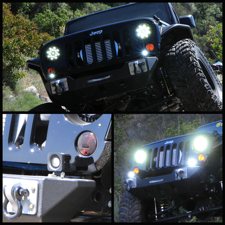 One Piece 2 5 Quot 4 Leds Cree Light Fog Lamp 12w Offroad For