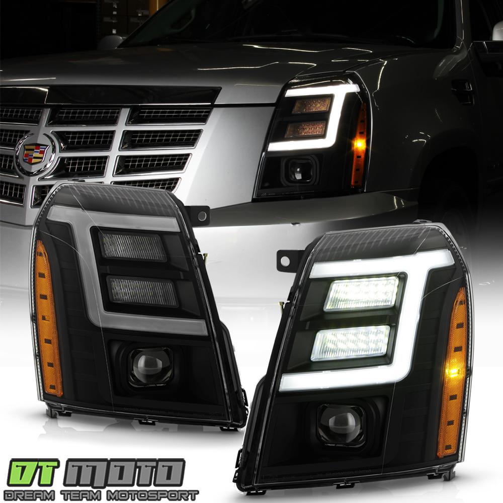 2007 Xenon Black Smoked Led Drl Projector Headlights