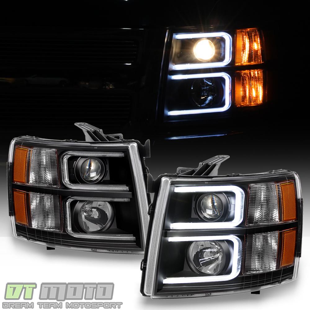 2008 Chevrolet Silverado 3500 Hd Extended Cab Camshaft: Black 2007-2013 Chevy Silverado OPTIC LED Projector