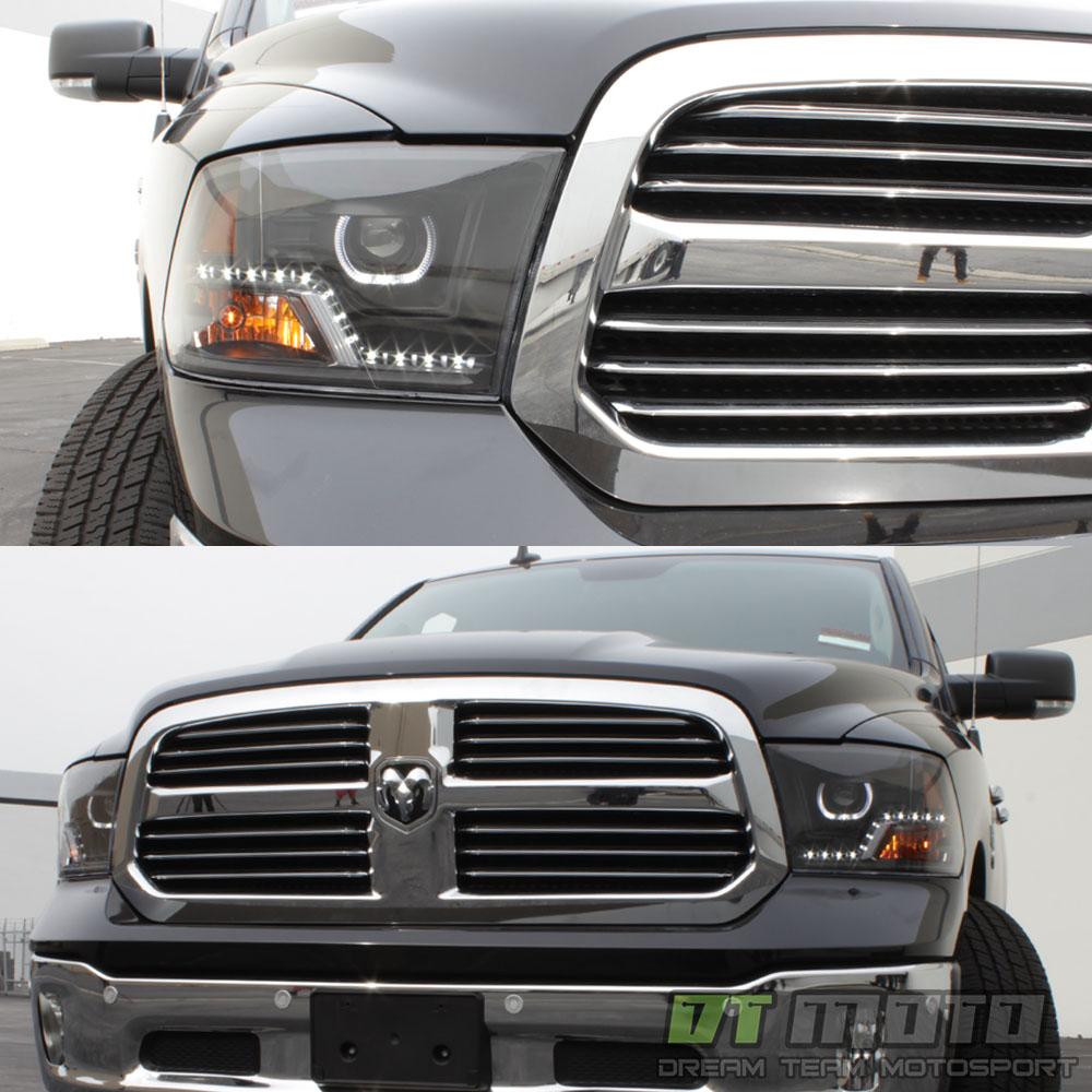 Black 2009-2017 Dodge Ram 1500 2500 3500 DRL LED Projector