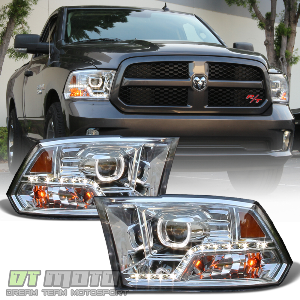 2010 Dodge Ram 2500 Regular Cab Exterior: [Mono-Eye] 2009-2018 Dodge Ram 1500 2500 3500 LED DRL Halo