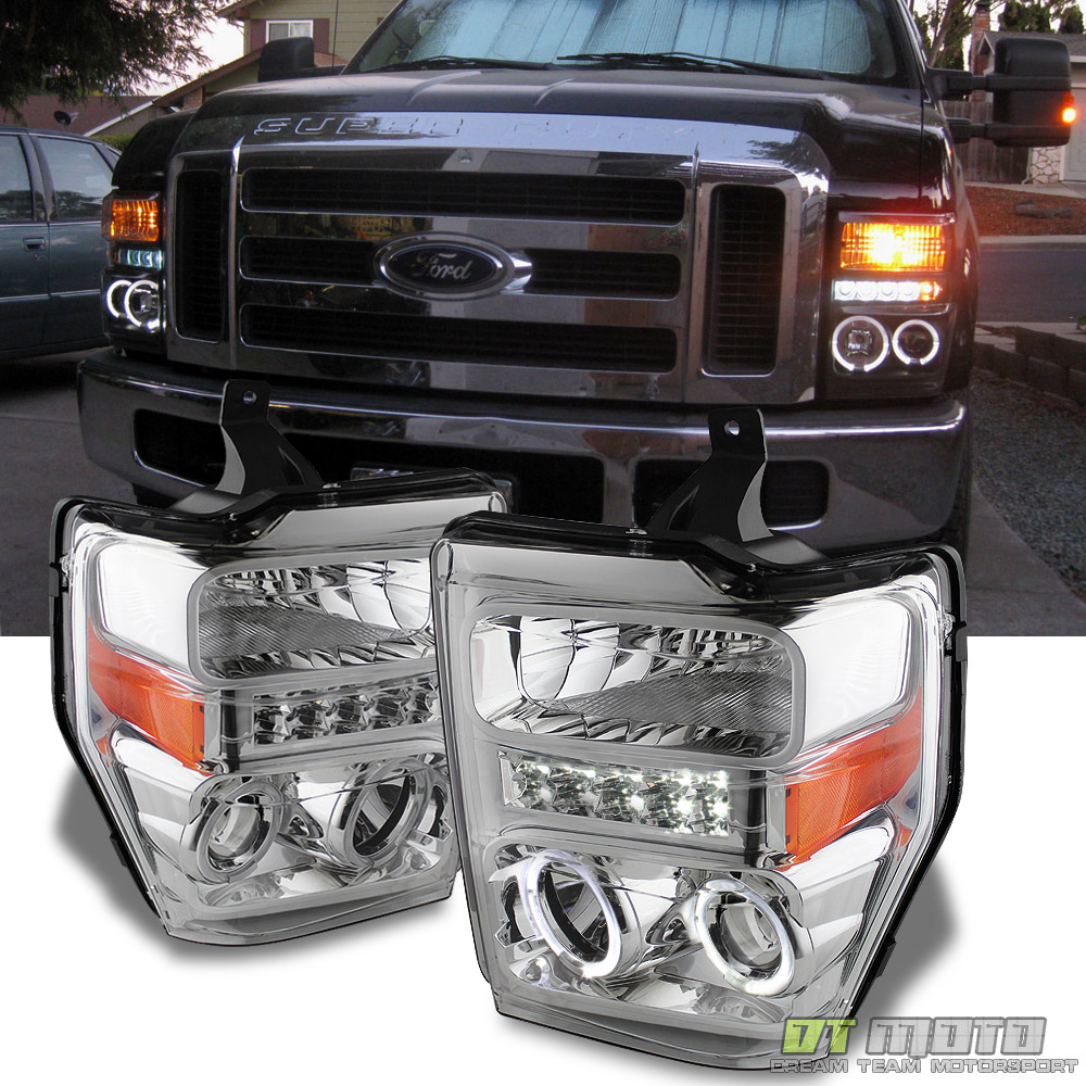 2008-2010 Ford F250 F350 F450 Superduty LED Halo Projector