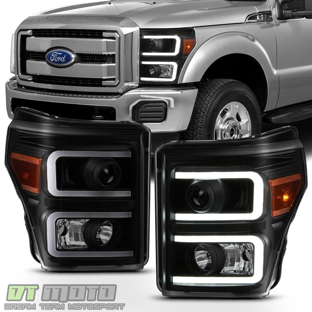 Black Smoke 2011-2016 Ford F250 F350 SuperDuty LED DRL