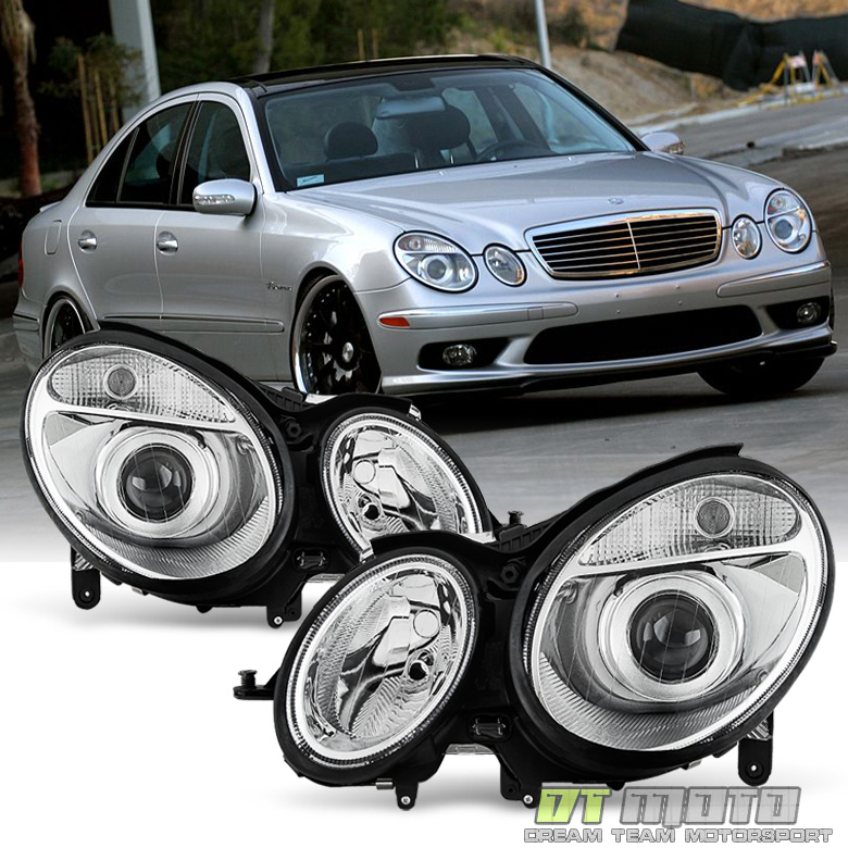 2003 2006 mercedes benz w211 e class headlights lamps e320 for Mercedes benz headlight bulb