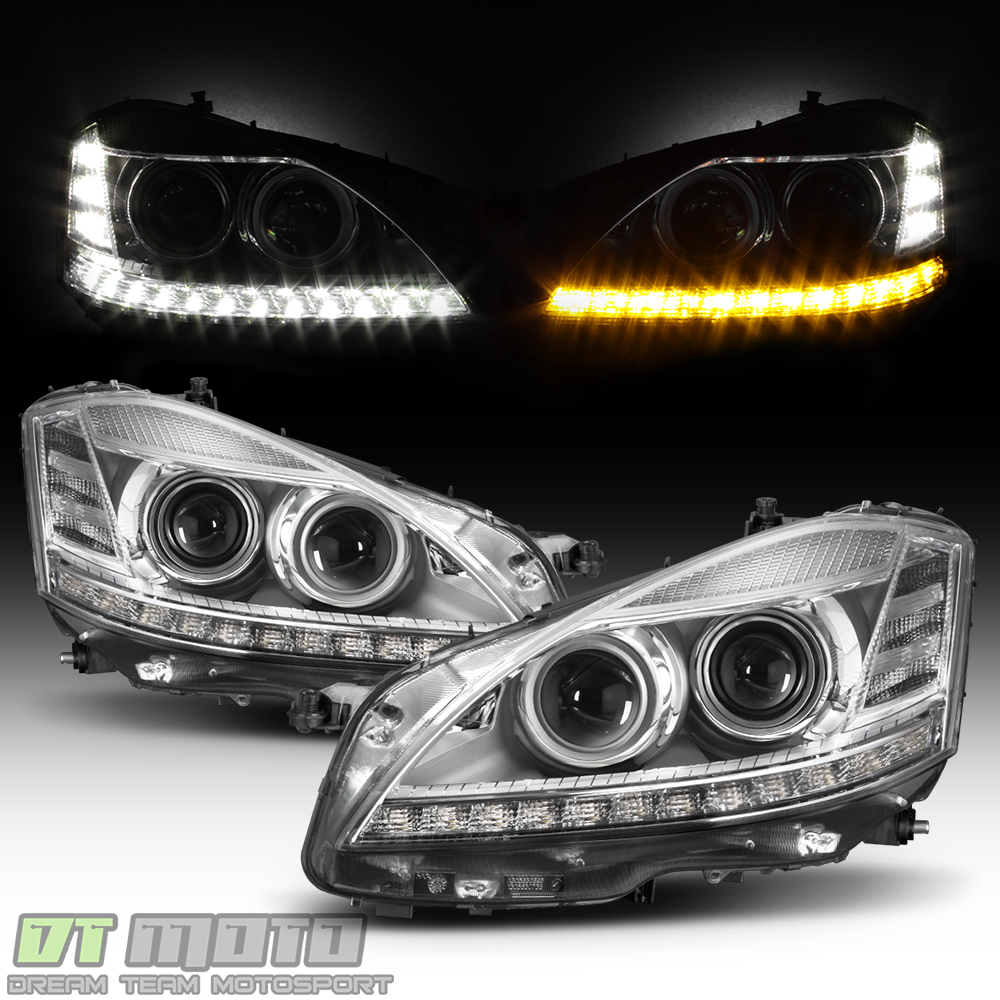 Facelift fit 2007 2009 mercedes benz w221 s550 s class for Mercedes benz headlight bulb