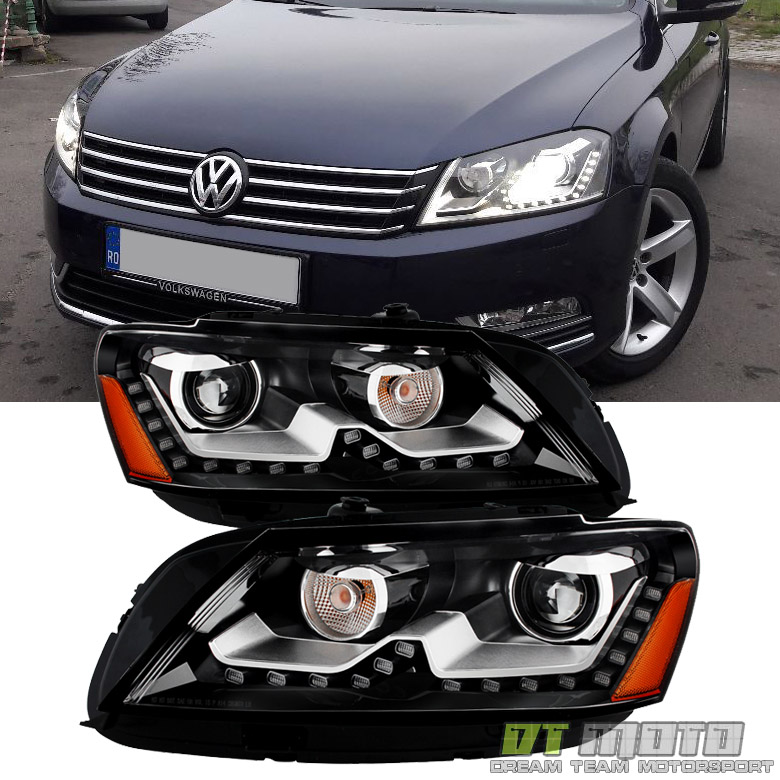 2015 Volkswagen Passat Tdi: 2012-2015 VW Passat B7 [Euro Look] LED DRL Headlights