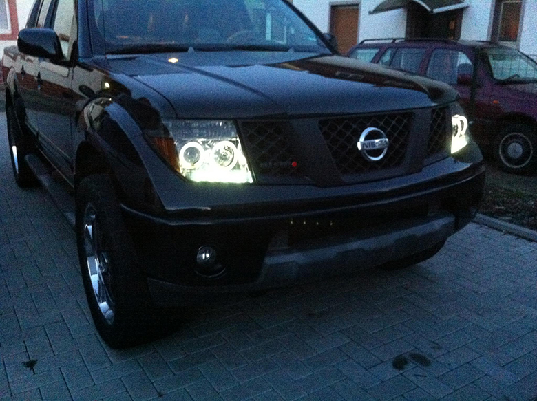 Smoke For 2005 2008 Frontier 05 07 Pathfinder LED DRL Halo
