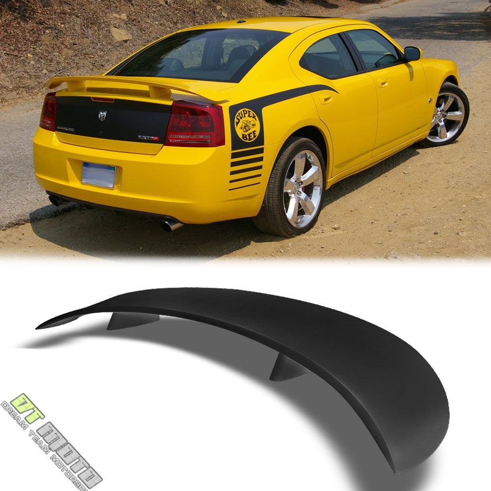 Matte Black 2006-2010 Dodge Charger Factory Style Rear