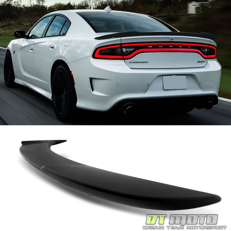Matt Black 2011-2017 Dodge Charger Hellcat Style SRT Rear ...