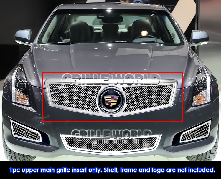 For 2013 2014 Cadillac Ats Logo Show Stainless Upper Mesh Grille
