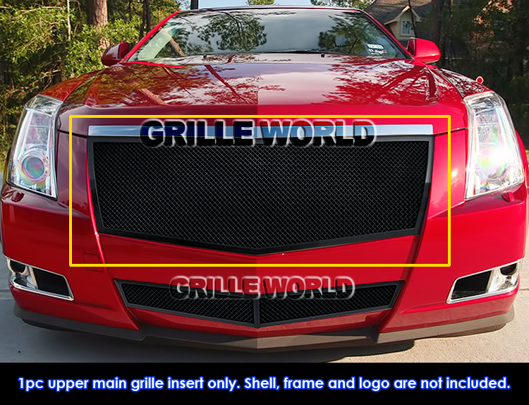 Details about Fits 2008-2011 Cadillac CTS Black Stainless Steel Mesh Grille  Insert