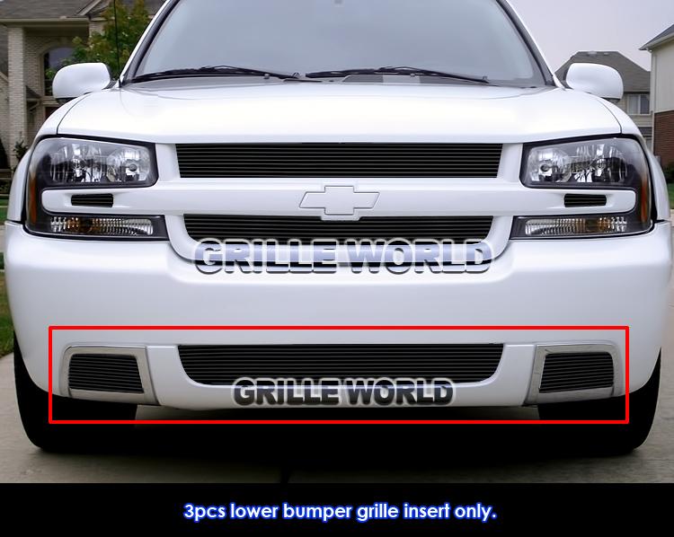 Fits 06-09 Chevy Trailblazer SS Lower Bumper Billet Grille Insert