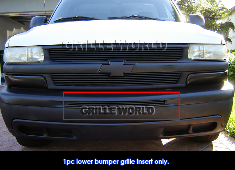 T-Rex Grilles 25051B Horizontal Aluminum Black Finish Billet Bumper Grille Overlay for Chevrolet Tahoe Suburban Avalanche