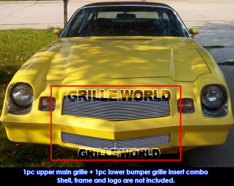 Details about Aluminum Billet Grille Combo For 78-81 Chevy Camaro Z28