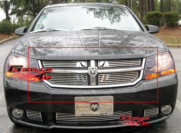 For 07 10 2010 Dodge Avenger Sxt Symbolic Grille Insert 647297002869