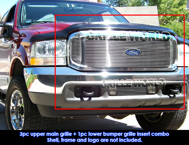 1999 2004 ford f 250 f 350 super duty excursion billet grille combo insert ebay details about 1999 2004 ford f 250 f 350 super duty excursion billet grille combo insert
