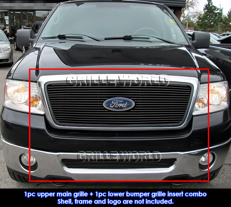fits 2006-2008 ford f-150 honeycomb black billet grille grill insert