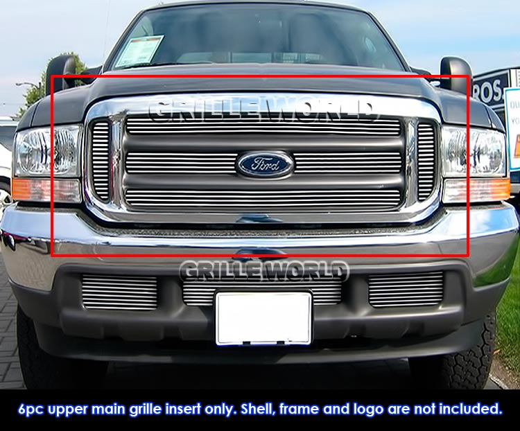 Ford Excursion 2003 >> Fits 1999-2004 Ford F250/F350/F450/ F550 Billet Main Upper Grille Insert 637230824542 | eBay
