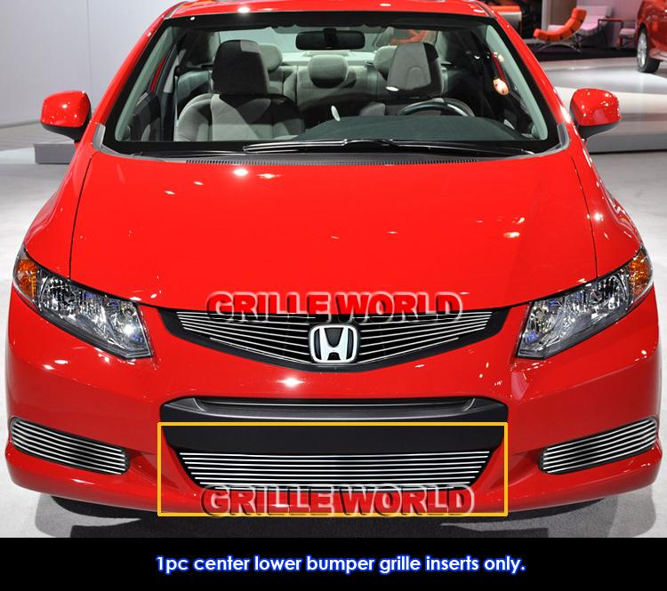 Fits 2012 2013 Honda Civic Coupe Si Lower Bumper Billet Grille