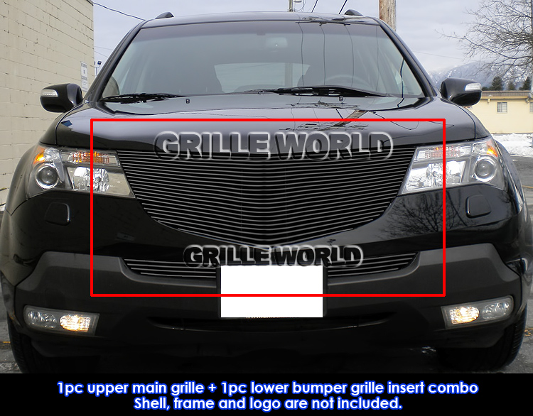 For Acura MDX Black Billet Premium Main Upper Grille - Acura mdx front grill