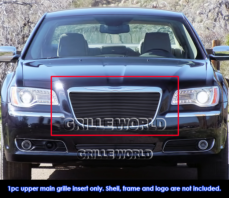 Fits 2011-2014 Chrysler 300/300C Black Billet Main Upper