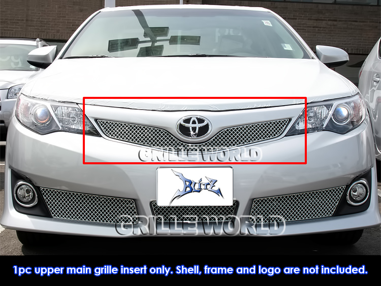 for 2012 2014 toyota camry se stainless steel x mesh grille grill insert ebay. Black Bedroom Furniture Sets. Home Design Ideas